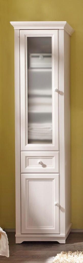 badezimmer hochschrank jasmin seitenschrank landhaus l rche wei ebay. Black Bedroom Furniture Sets. Home Design Ideas
