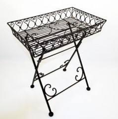 tablett tisch klapptisch zucca schmiedeeisen mediterran antik ebay. Black Bedroom Furniture Sets. Home Design Ideas