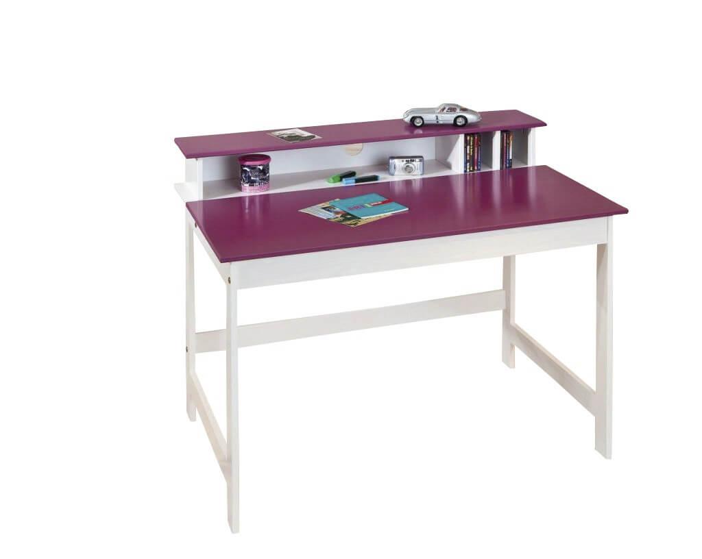 Schreibtisch kinderschreibtisch lasse kiefer weiss platte for Schreibtisch zum klappen