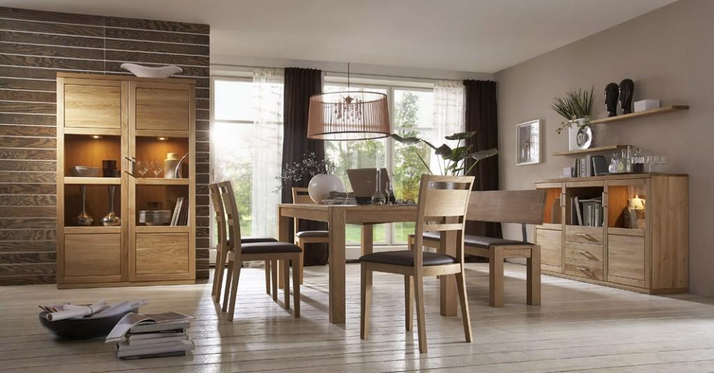 esszimmer bianca 01 komplett set kernbuche oder wildeiche. Black Bedroom Furniture Sets. Home Design Ideas