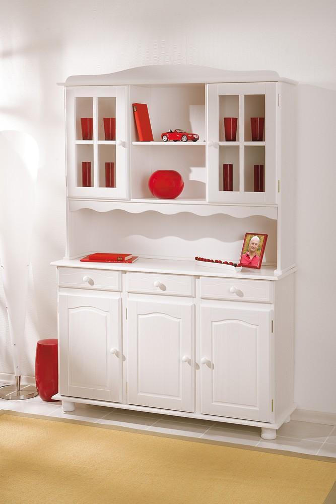 buffet vitrine kuechenschrank kuechenbuffet siena kiefer. Black Bedroom Furniture Sets. Home Design Ideas