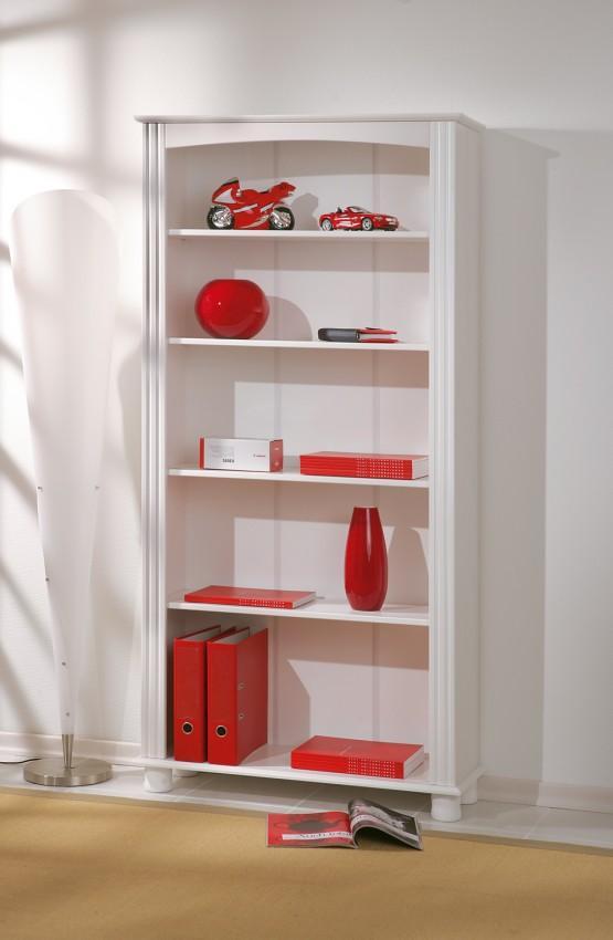 regal landhausregal b cherregal anke kiefer weiss ebay. Black Bedroom Furniture Sets. Home Design Ideas