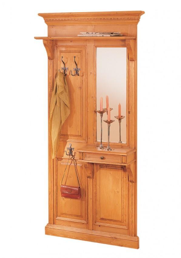 Garderobenpaneel victoria fichte massiv gewachst oder lackiert for Garderobenpaneel edelstahl