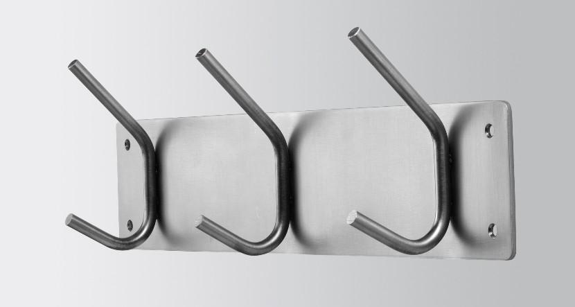 garderobe garderobenhaken fusion 3 edelstahl. Black Bedroom Furniture Sets. Home Design Ideas