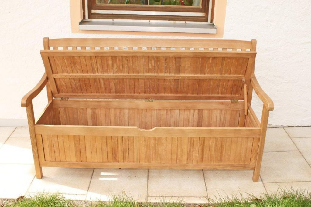 Gartenbank truhenbank mit kiste stauraum for Idee und garten oliver krull