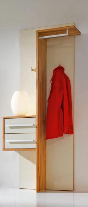 Kompaktgarderobe garderobe constanze kernbuche massiv for Kompaktgarderobe massivholz