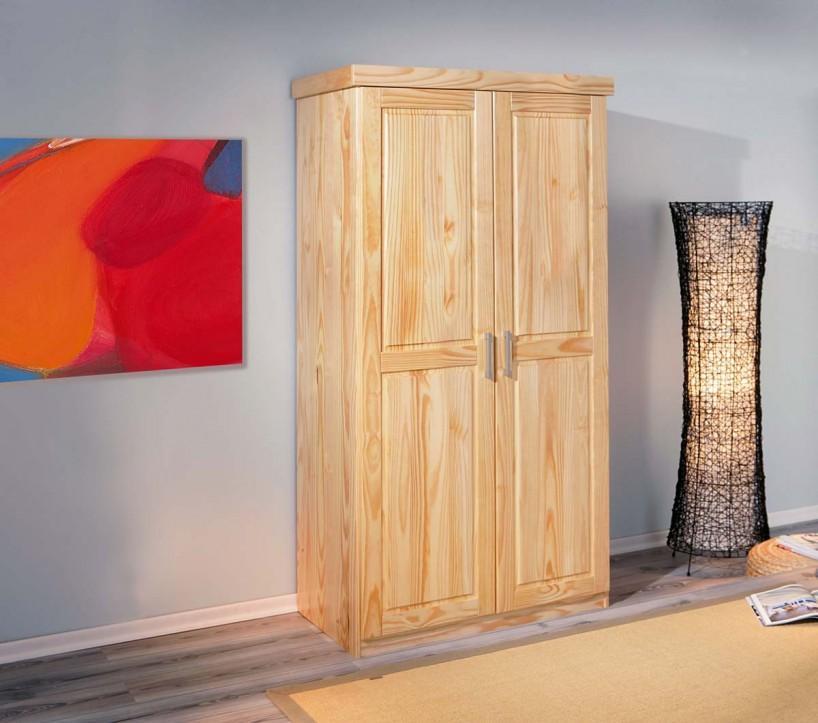 schrank kleiderschrank leon kiefer natur lackiert 2 t rig ebay. Black Bedroom Furniture Sets. Home Design Ideas