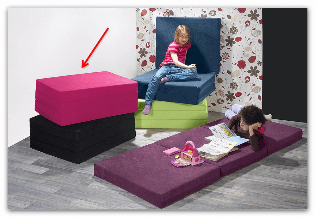 klappmatratze faltmatratze g ste matratze heike in pink ebay. Black Bedroom Furniture Sets. Home Design Ideas