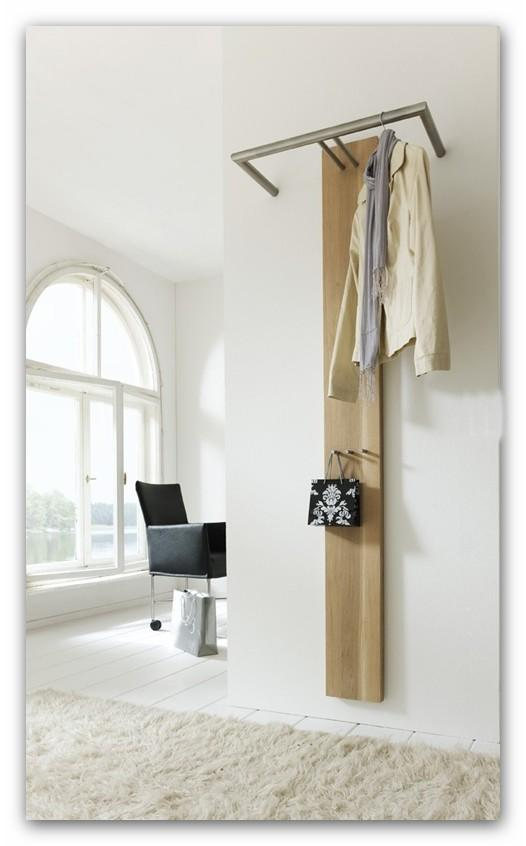 garderobe wandgarderobe riva 2 eiche edelstahl von spinder ebay. Black Bedroom Furniture Sets. Home Design Ideas