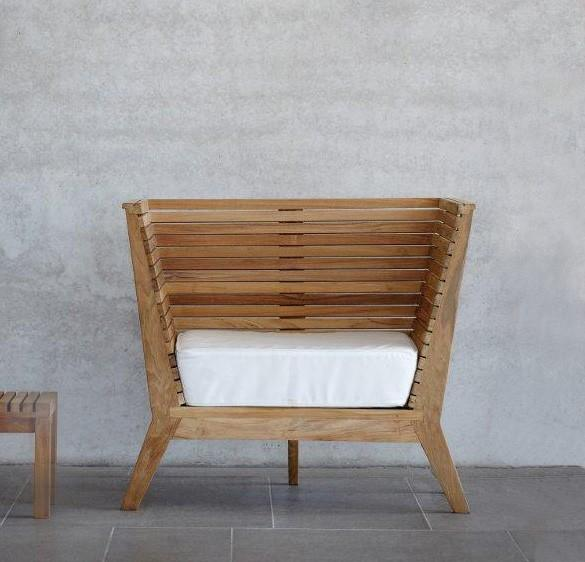 gartensessel teak sessel william mit sitzkissen von jan kurtz ebay. Black Bedroom Furniture Sets. Home Design Ideas