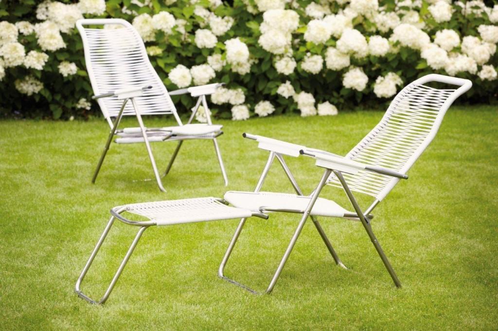jan kurtz fiam spaghetti liegestuhl gartenstuhl sessel mit beinauflage ebay. Black Bedroom Furniture Sets. Home Design Ideas