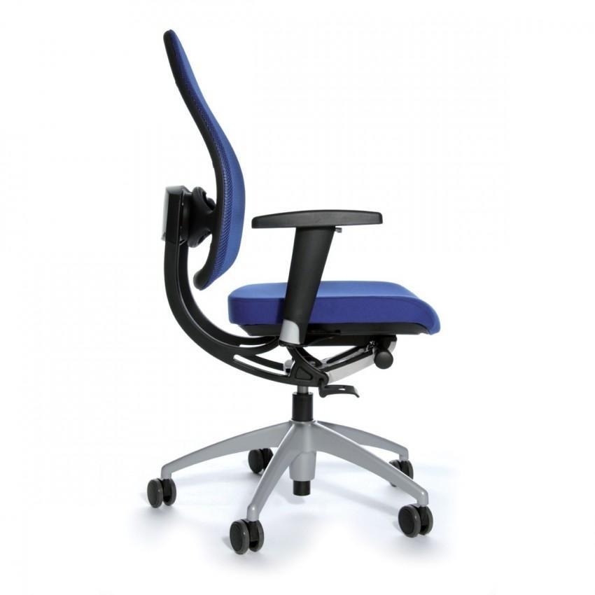 b rostuhl open base blau mit h henverstellbaren armlehnen. Black Bedroom Furniture Sets. Home Design Ideas