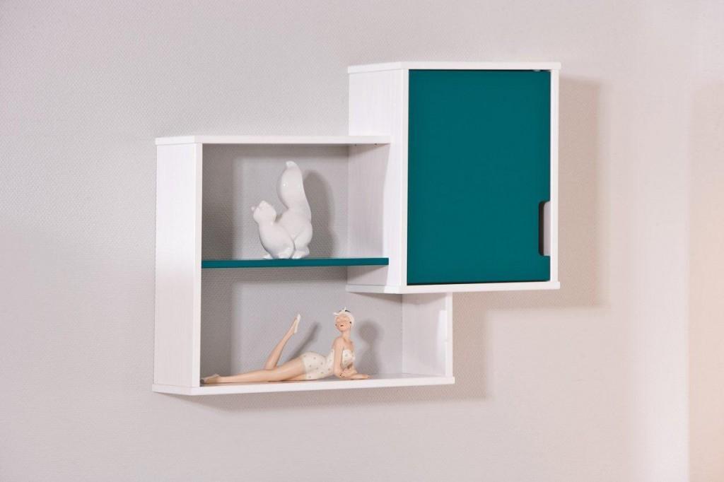 regal wandregal ricardo mit 1 t r in petrol ebay. Black Bedroom Furniture Sets. Home Design Ideas