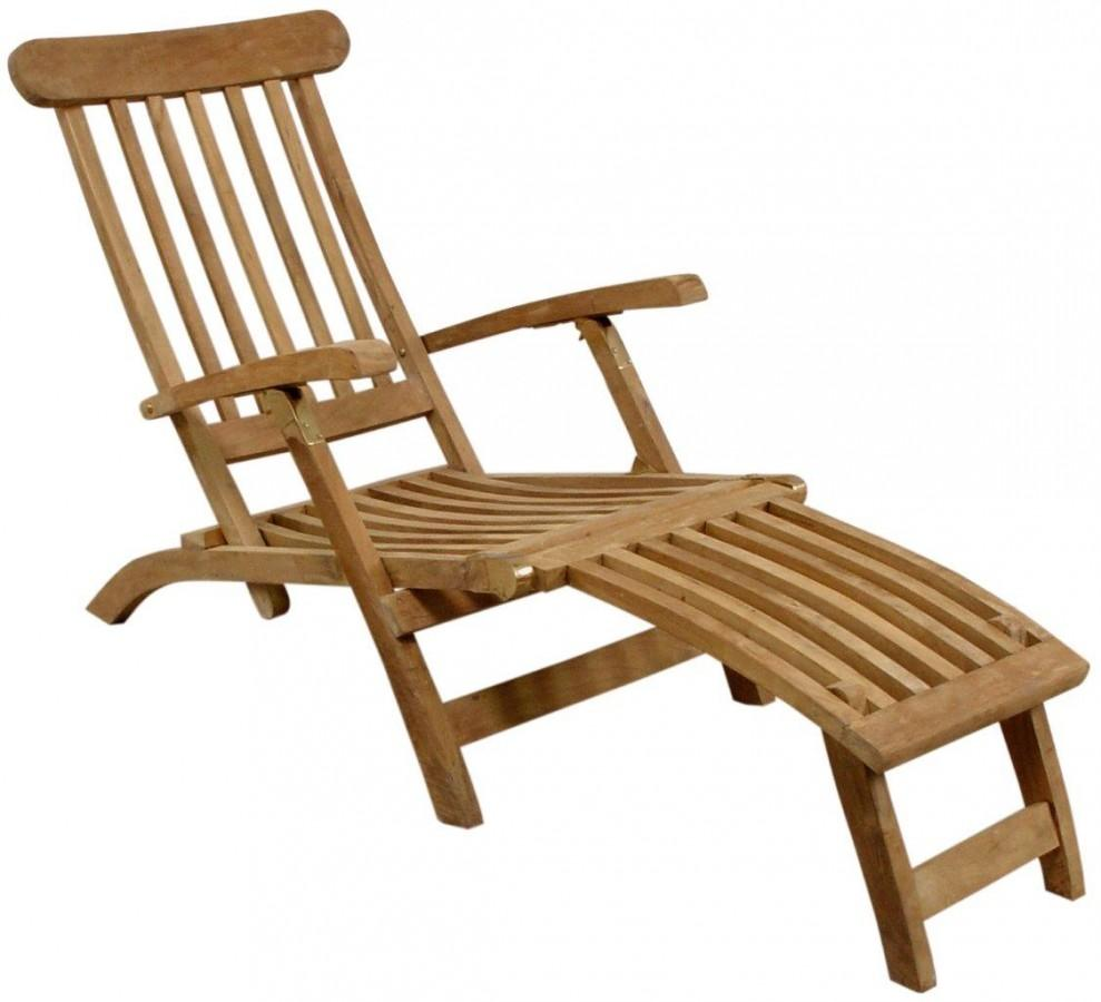deckchair liegestuhl titanic in eco teak ebay. Black Bedroom Furniture Sets. Home Design Ideas