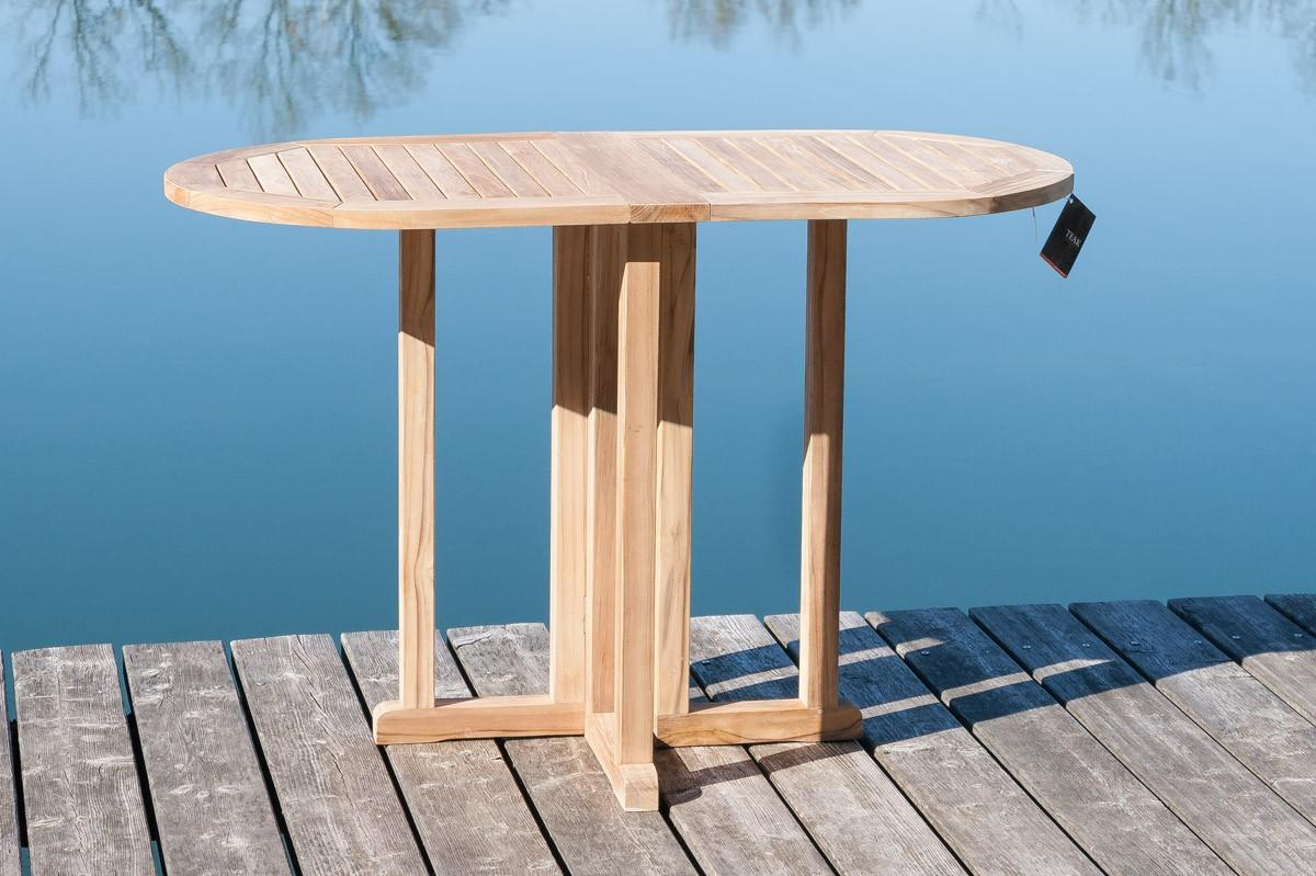 balkon klapptisch gartentisch in teak 120 x 65 cm ebay. Black Bedroom Furniture Sets. Home Design Ideas