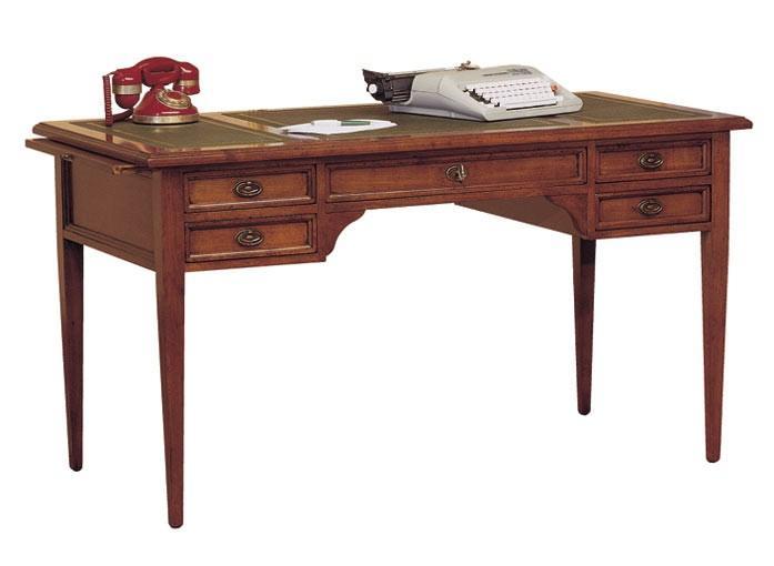 Schreibtisch mit schubladen schreibtisch bay mit for Schreibtisch kirschbaum