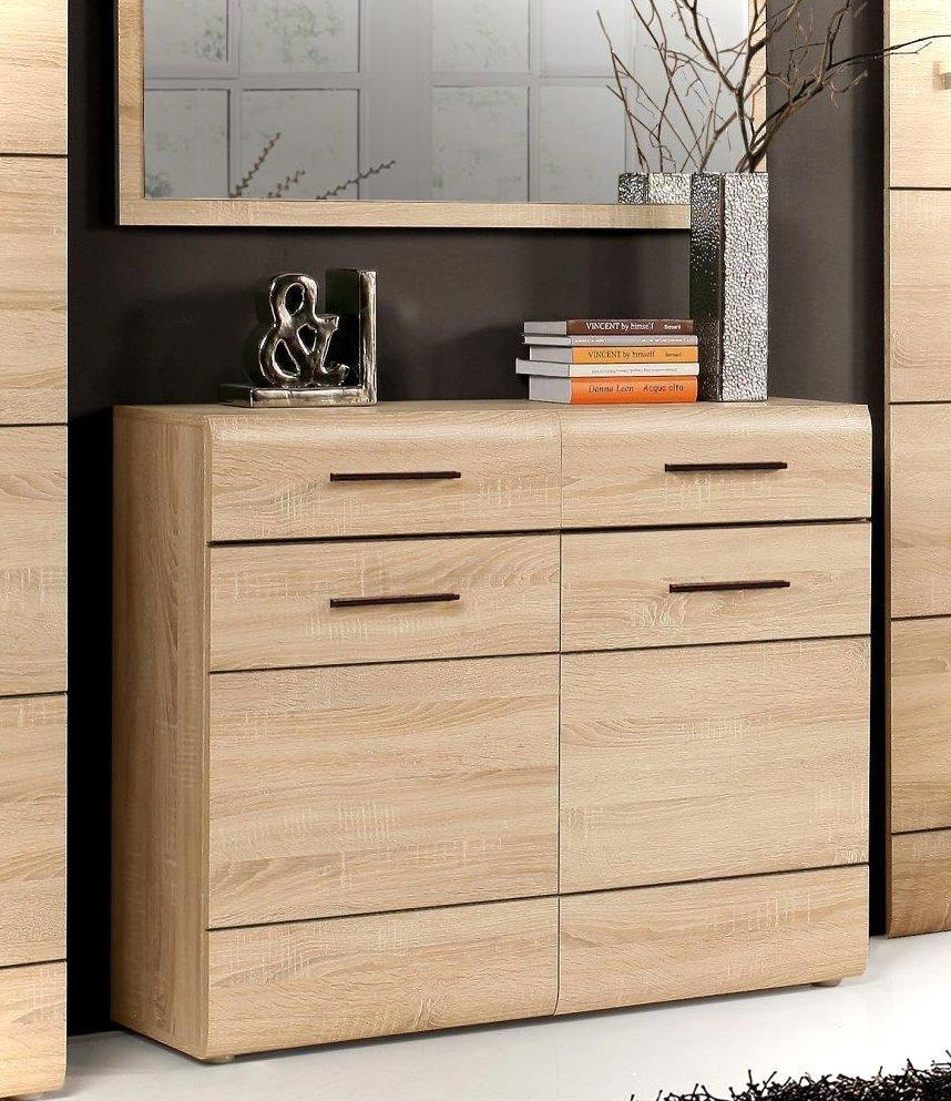 schuhkommode schuhschrank combino 2 t ren sonoma eiche. Black Bedroom Furniture Sets. Home Design Ideas