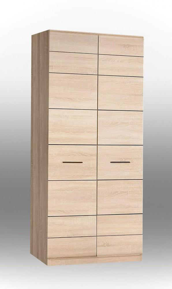 kleiderschrank combino schrank mit 2 t ren sonoma eiche. Black Bedroom Furniture Sets. Home Design Ideas