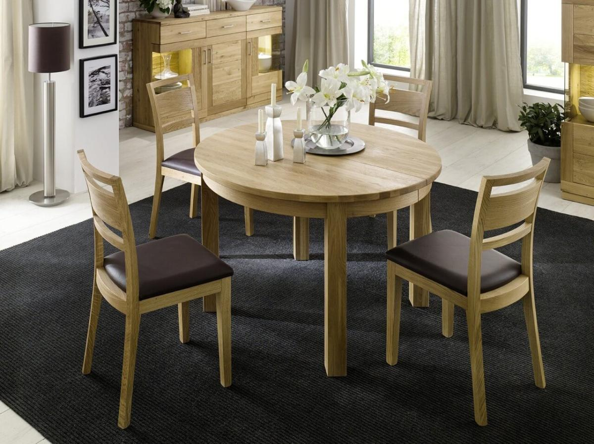 esstisch rundtisch julie eiche wildeiche oder kernbuche. Black Bedroom Furniture Sets. Home Design Ideas