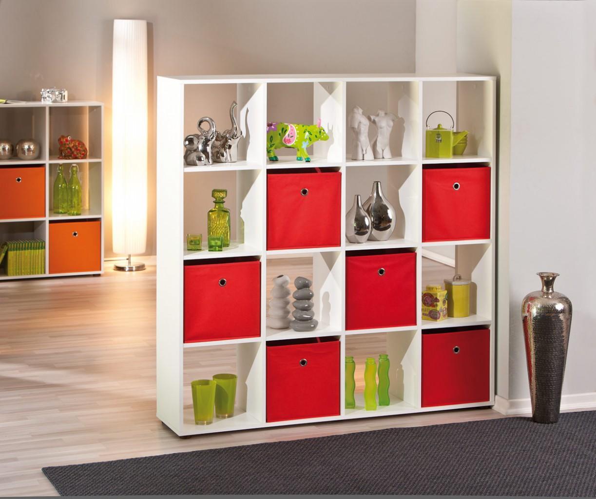 regal caboto 16 offener raumteiler dekor wei. Black Bedroom Furniture Sets. Home Design Ideas