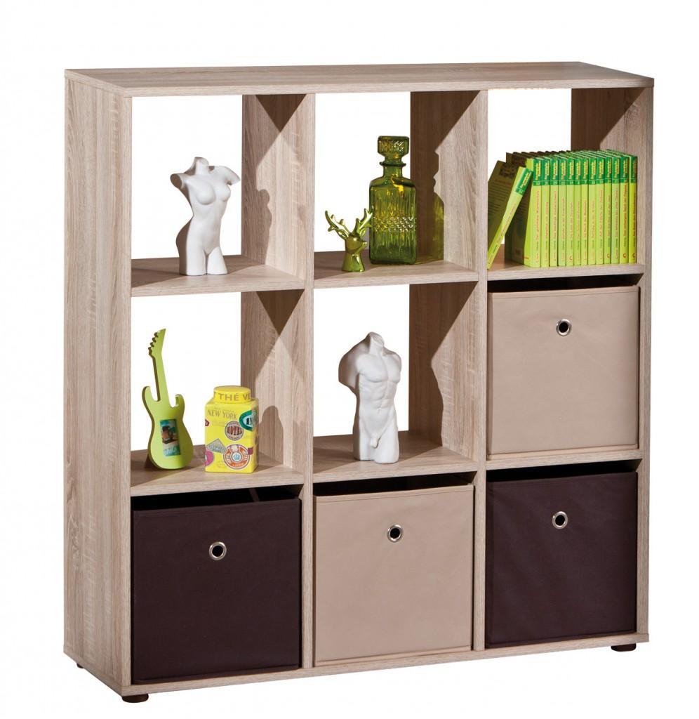 pin regal wei sonoma eiche raumteiler trennwand wandregal standregal on pinterest. Black Bedroom Furniture Sets. Home Design Ideas