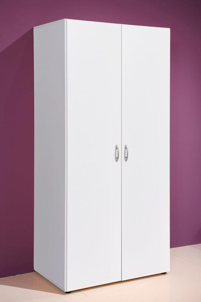 kleiderschrank base 2 t ren weiss universell einsetzbarer schrank. Black Bedroom Furniture Sets. Home Design Ideas