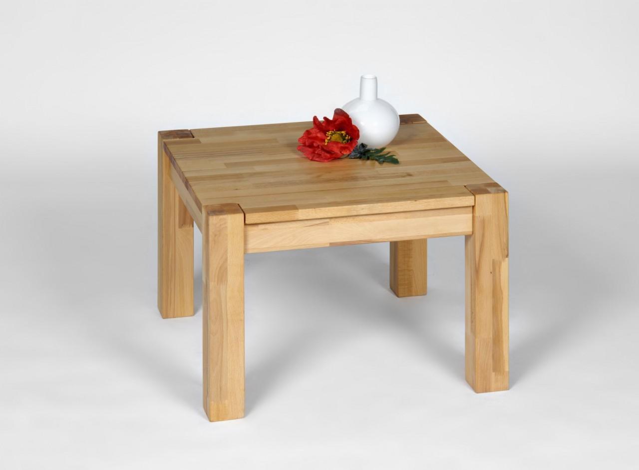 couchtisch beistelltisch lagos kernbuche massivholz 70 x 70 cm ebay. Black Bedroom Furniture Sets. Home Design Ideas