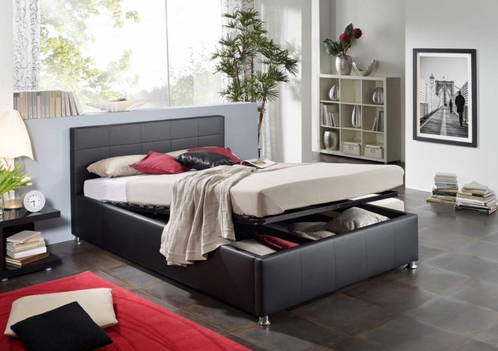 bett polsterbett karin inkl lattenrost und bettkasten 140 x 200 ebay. Black Bedroom Furniture Sets. Home Design Ideas