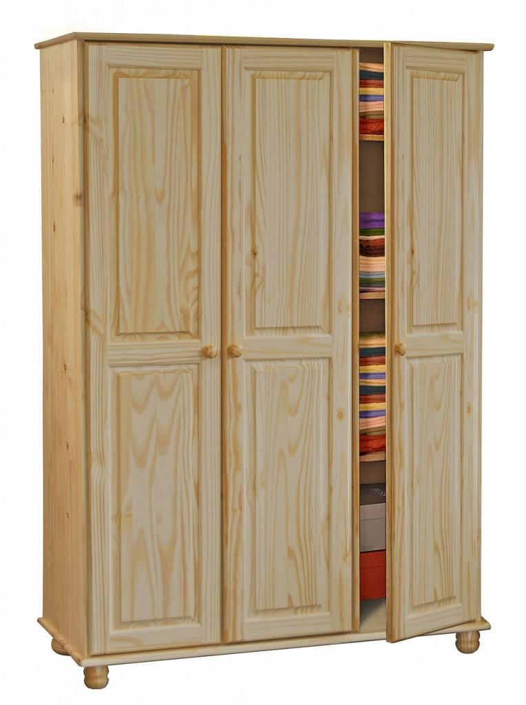 kleiderschrank classic 3 t ren kiefer massiv lackiert ebay. Black Bedroom Furniture Sets. Home Design Ideas