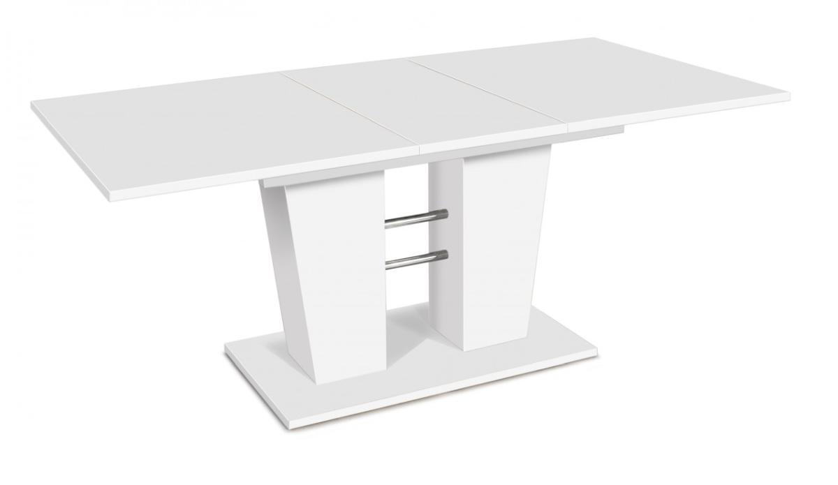 esstisch breda 140 x 90 cm tisch ausziehbar in weiss ausziehtisch ebay. Black Bedroom Furniture Sets. Home Design Ideas