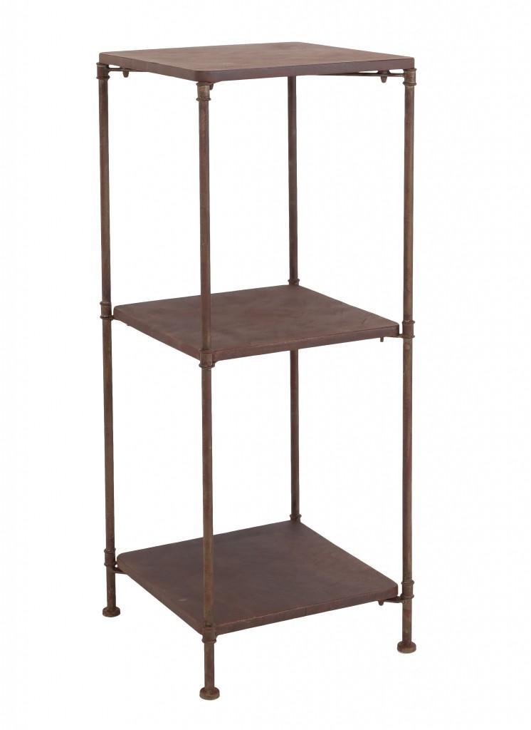 landhaus eisenregal metallregal brasato 3 f cher antik braun ebay. Black Bedroom Furniture Sets. Home Design Ideas
