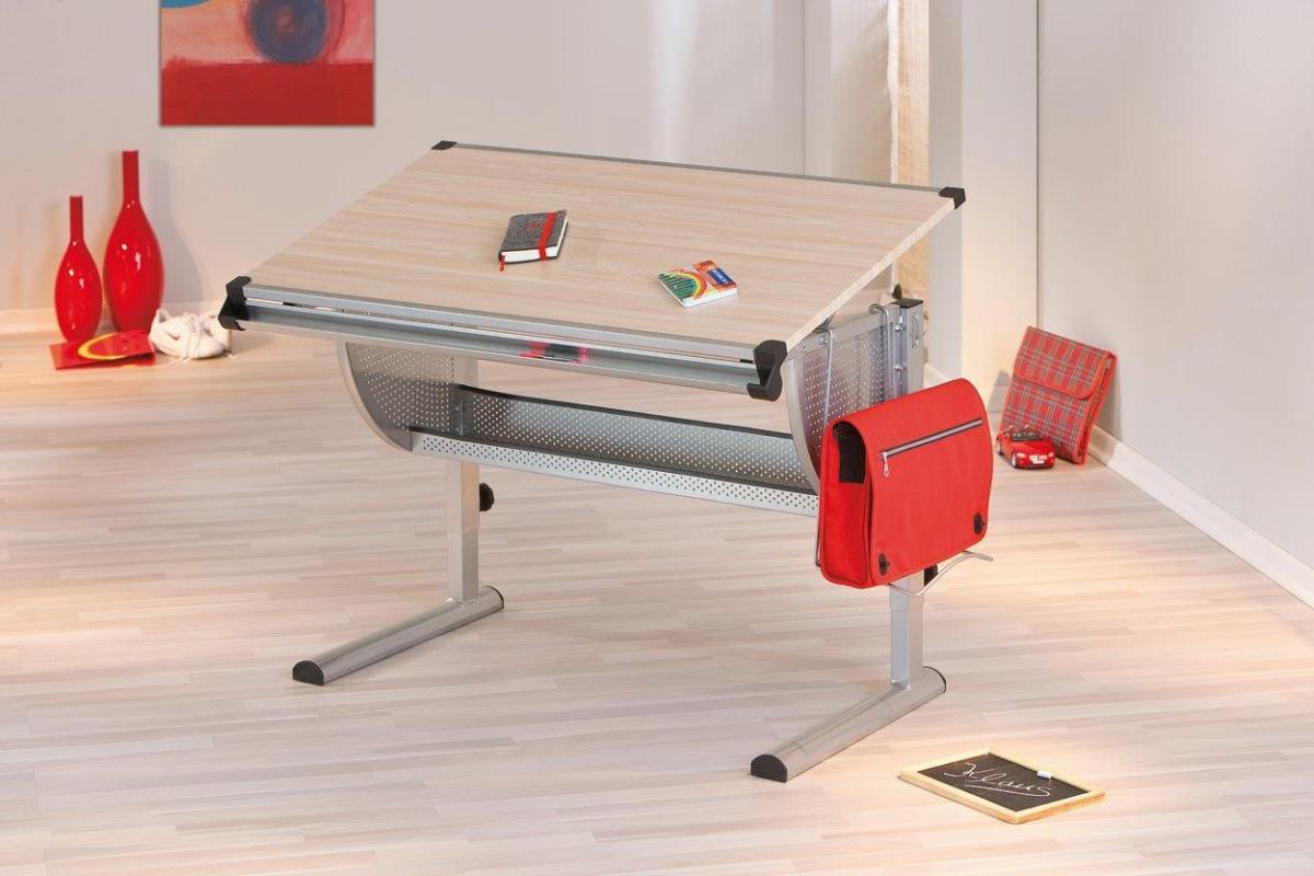 kinderschreibtisch ibo ahorn h henverstellbar neigung. Black Bedroom Furniture Sets. Home Design Ideas