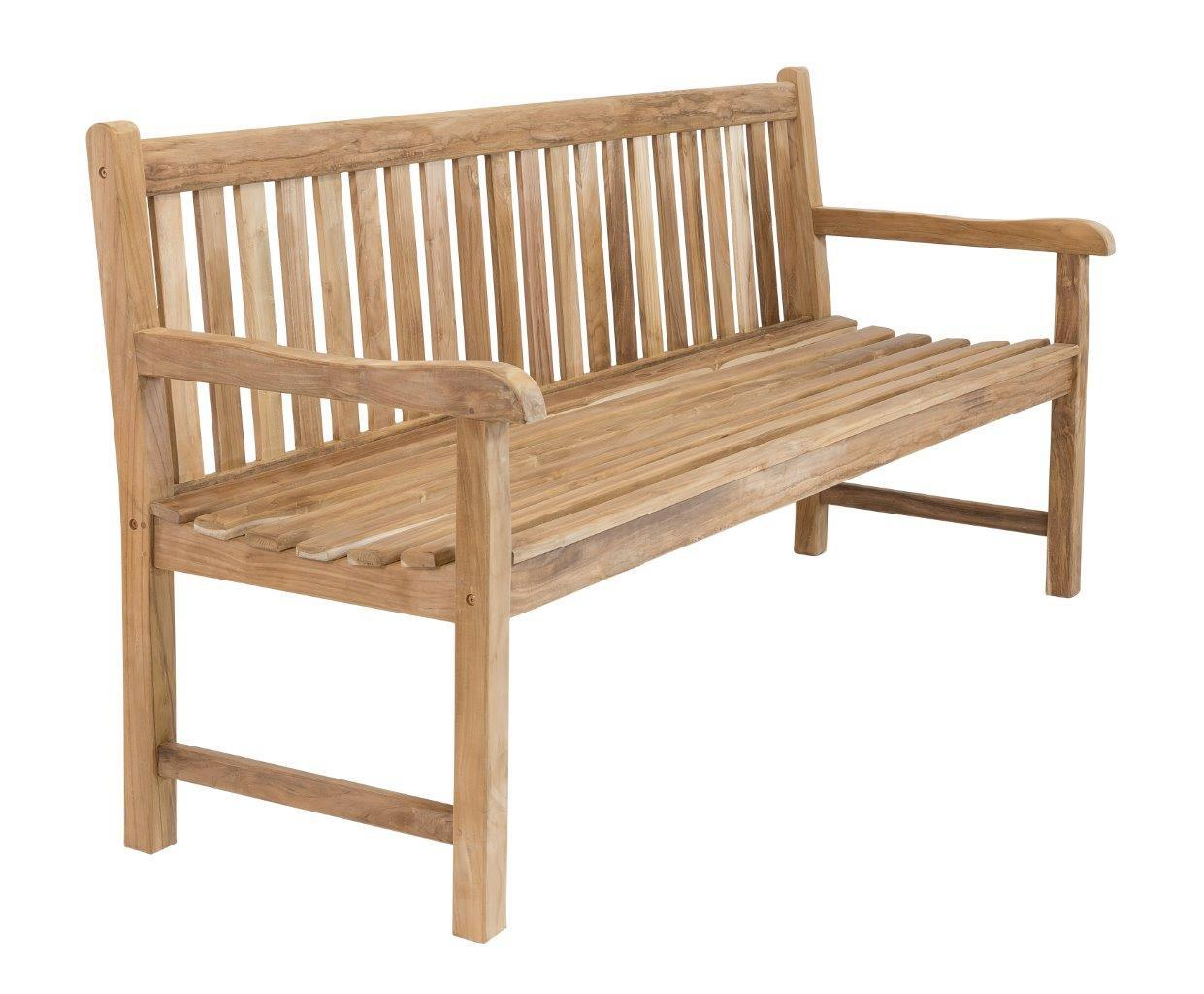 stabile bank gartenbank picadelly 150 cm in premium teak mit armlehne. Black Bedroom Furniture Sets. Home Design Ideas