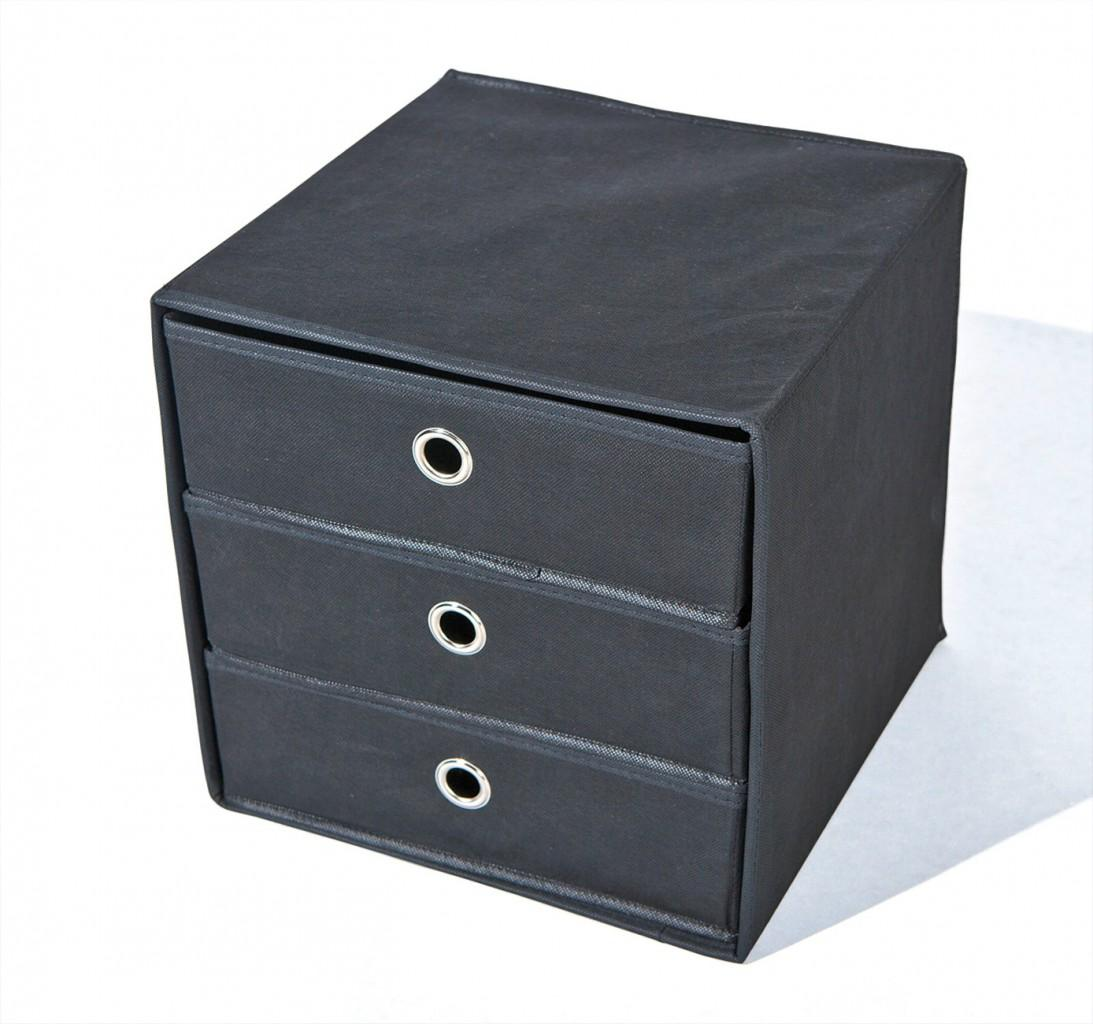 faltbox willy aufbewahrungs box mit 3 schubladen. Black Bedroom Furniture Sets. Home Design Ideas