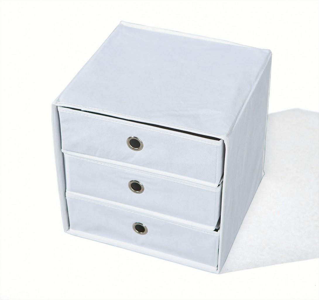 faltbox willy aufbewahrungs box mit 3 schubladen