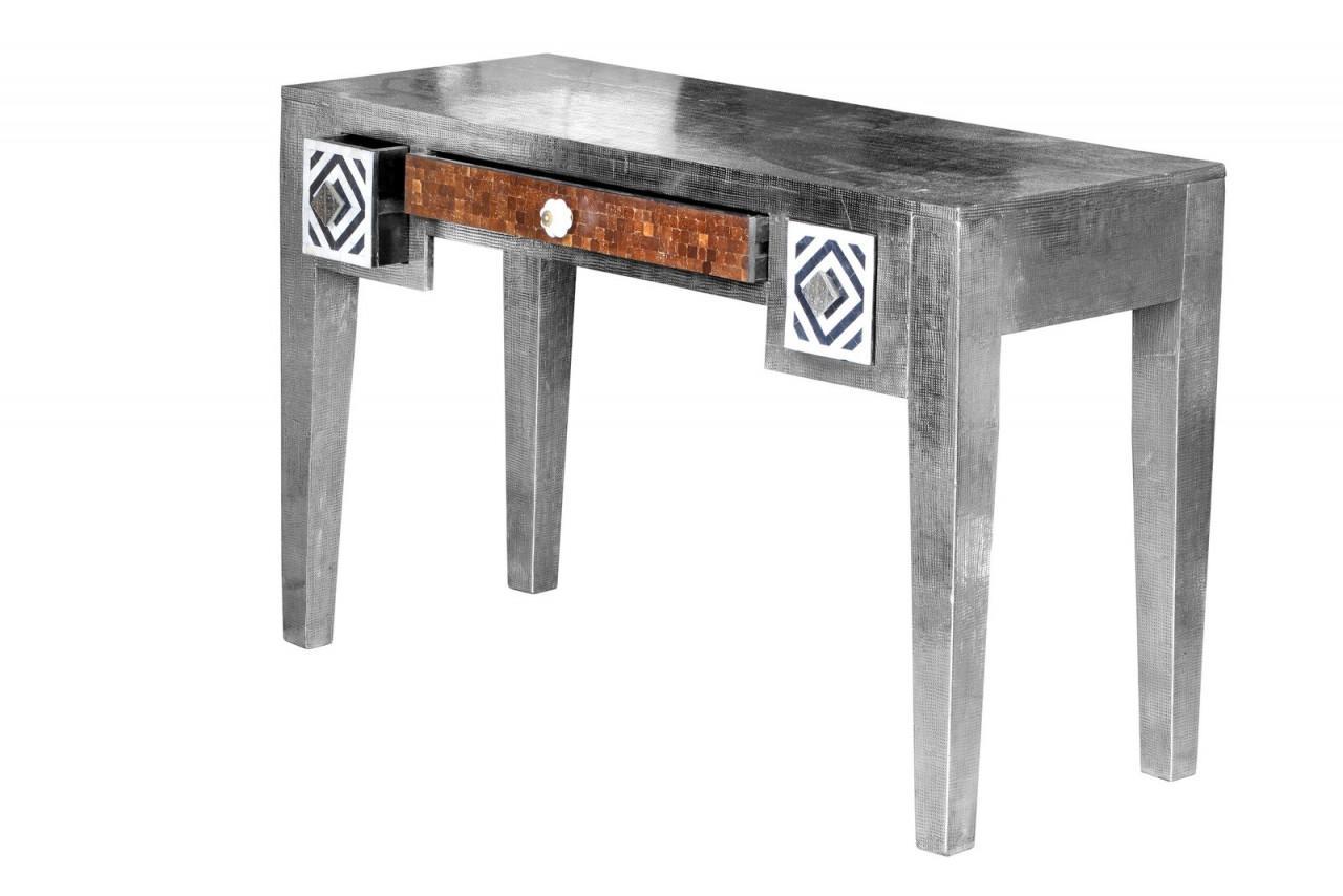 Schreibtisch metal bone von sit aus mango messing metall for Schreibtisch metall