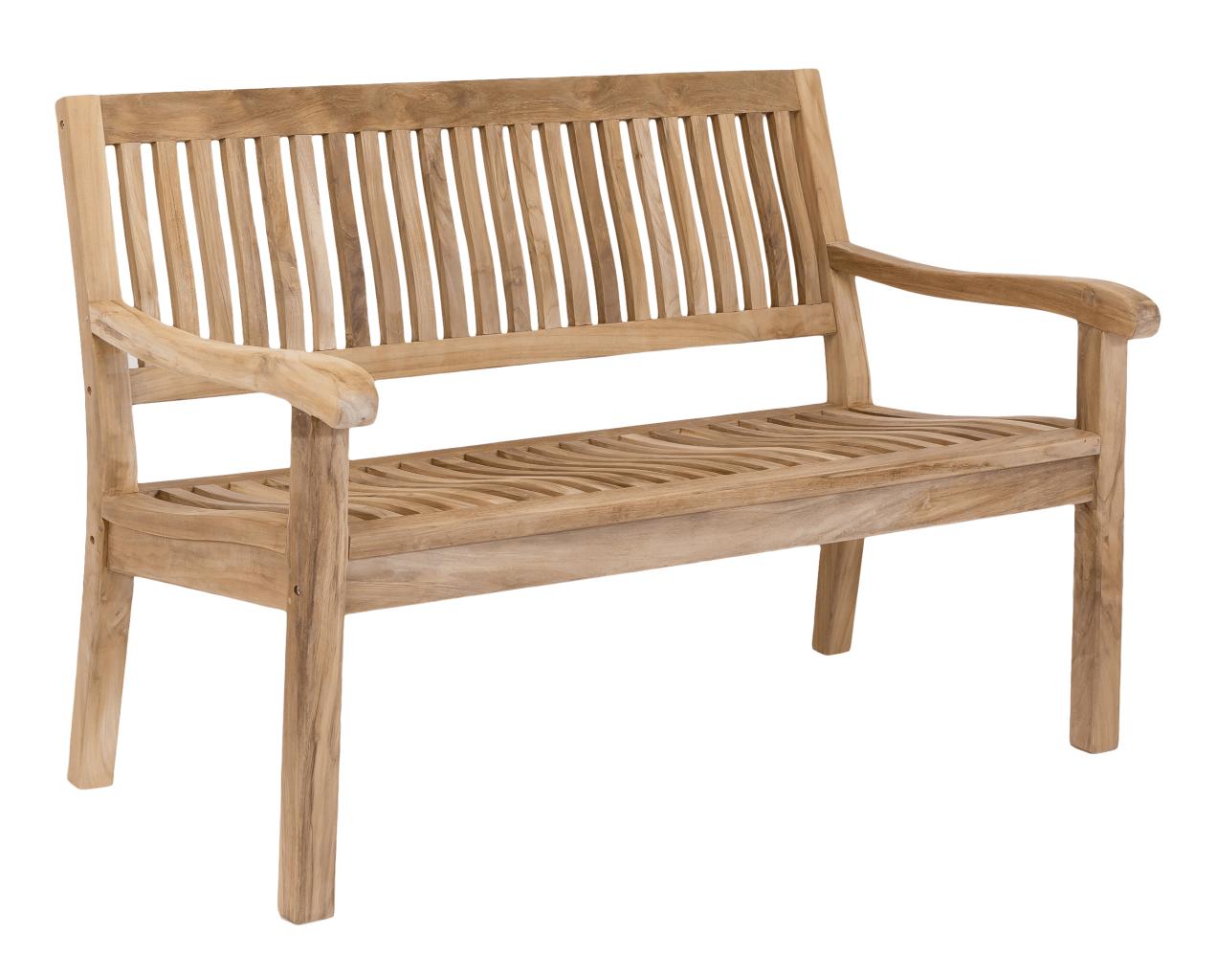 stabile 3 sitzer gartenbank kingsbury in premium teak 150 cm. Black Bedroom Furniture Sets. Home Design Ideas