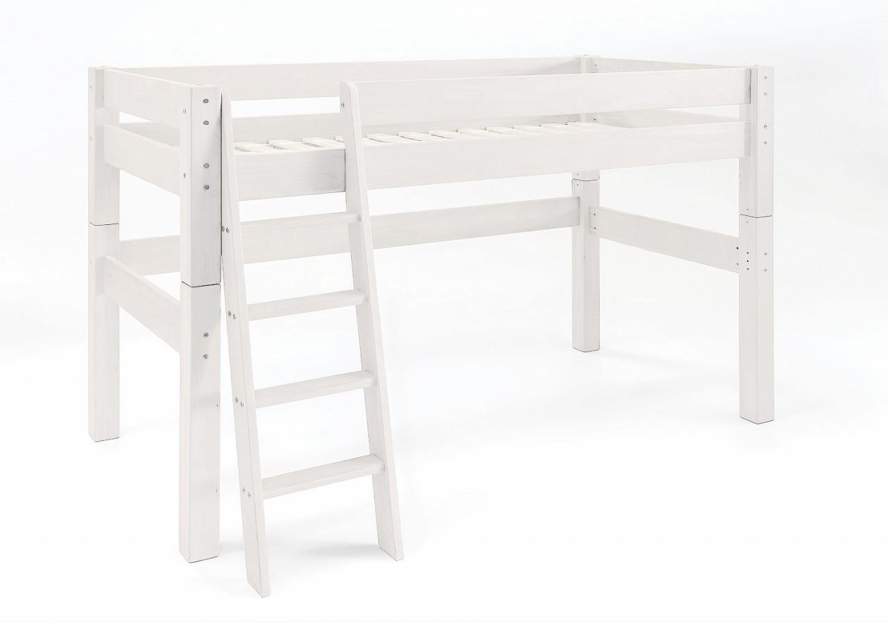 hochbett moby midisleeper mit leiter kinderbett kiefer. Black Bedroom Furniture Sets. Home Design Ideas