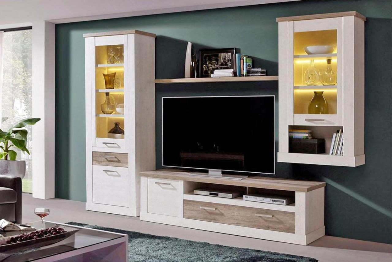 lowboard duro tv board 2 schubladen und ger tefach pinie. Black Bedroom Furniture Sets. Home Design Ideas