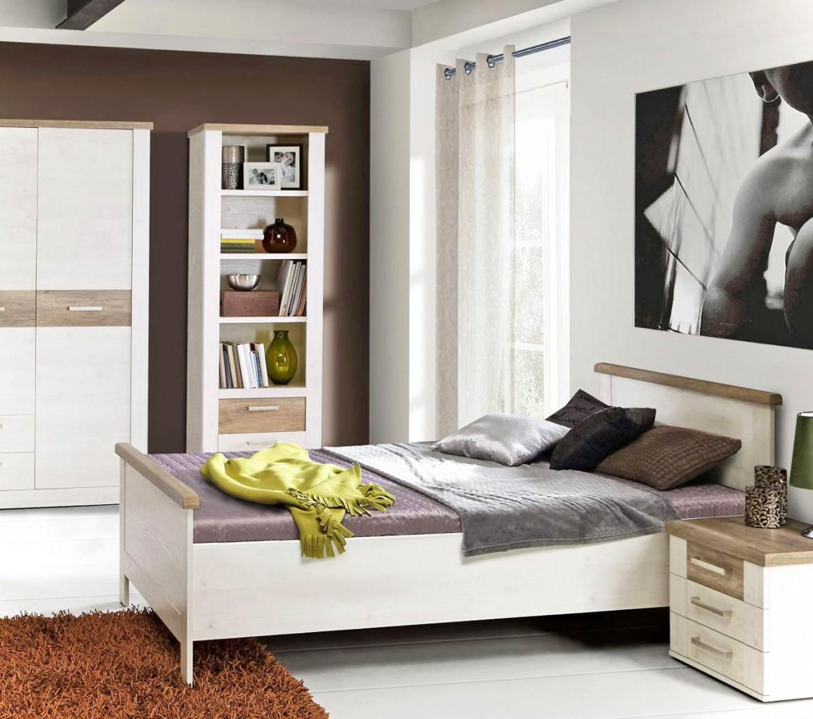 b cherregal duro regal mit 2 schubladen dekor pinie wei antik. Black Bedroom Furniture Sets. Home Design Ideas
