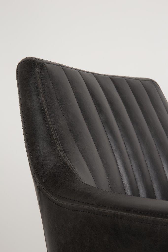 clubsessel pike esszimmerstuhl in kunstleder schwarz. Black Bedroom Furniture Sets. Home Design Ideas