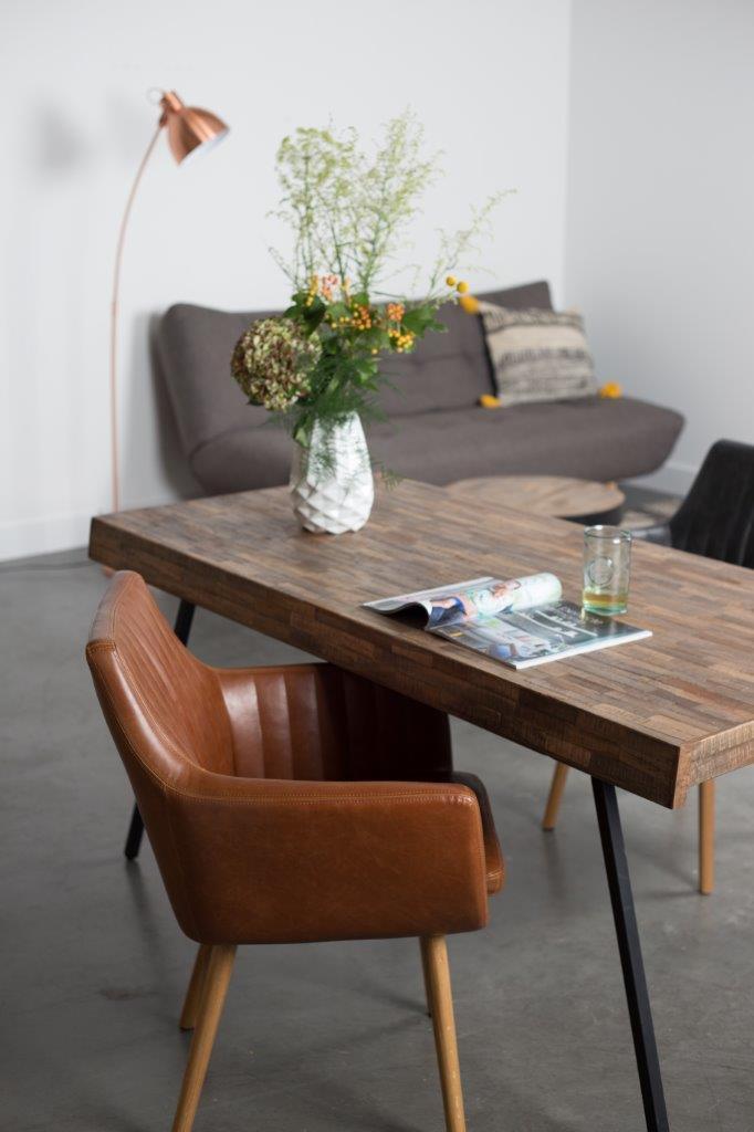 clubsessel pike esszimmerstuhl in kunstleder braun. Black Bedroom Furniture Sets. Home Design Ideas