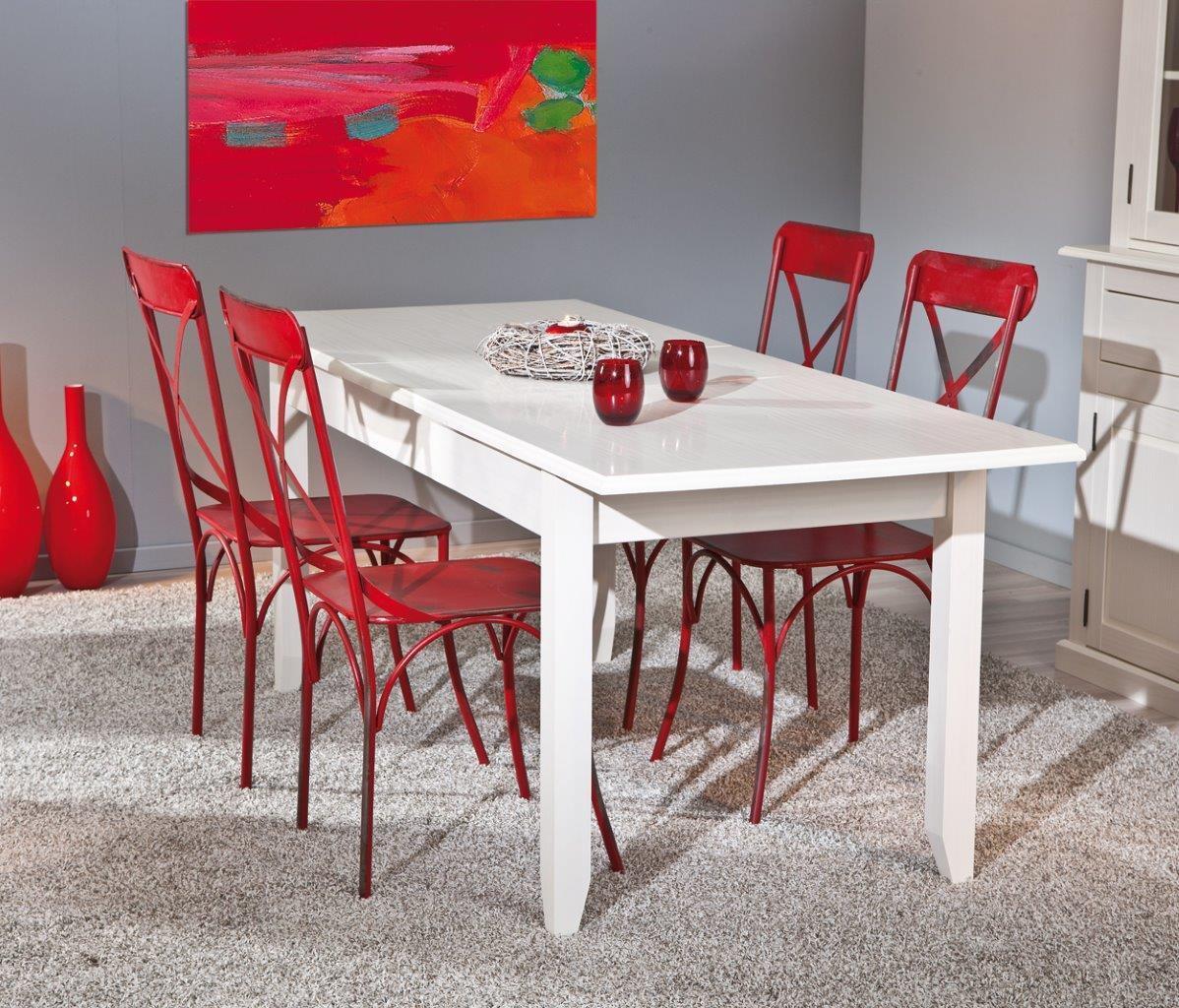 esstisch cassala 1 1 im landhausstil 160 x 90 cm ausziehbar. Black Bedroom Furniture Sets. Home Design Ideas