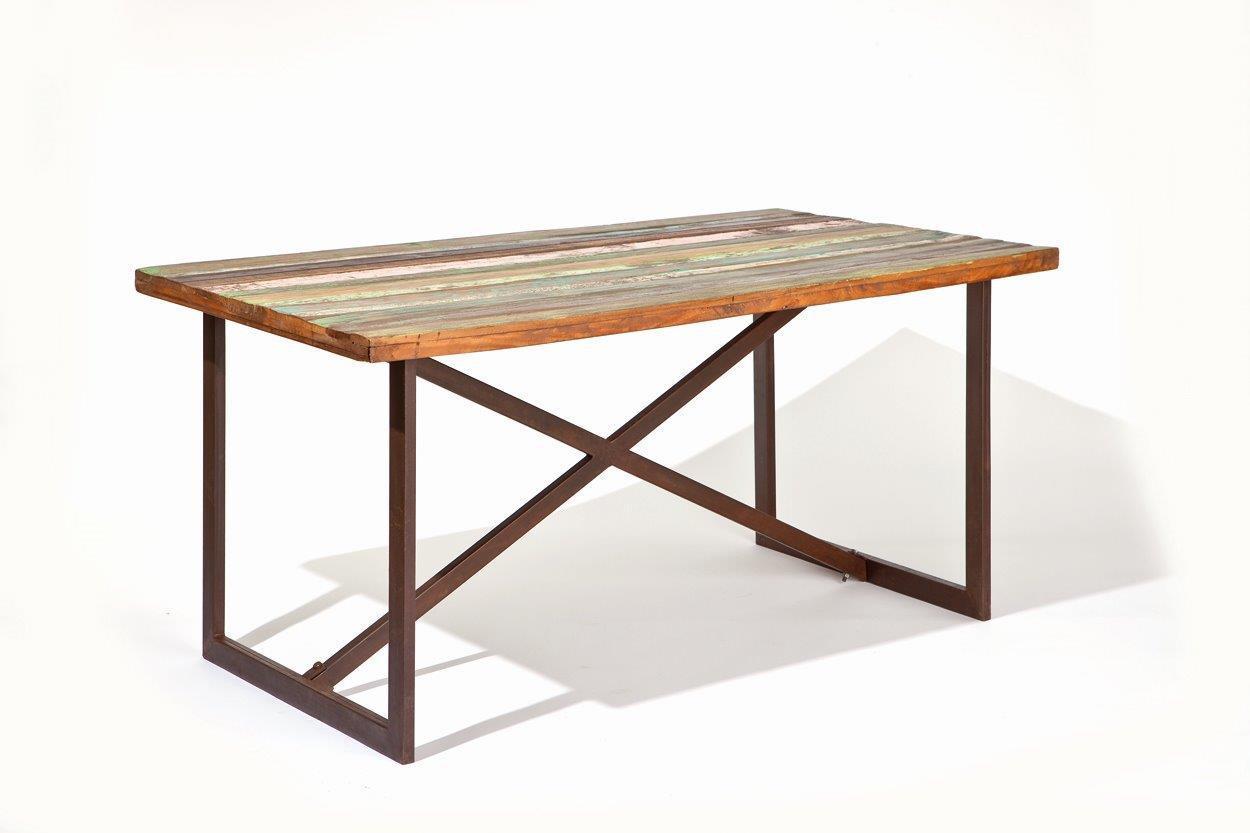 vintage esstisch colori platte aus recycling mangoholz. Black Bedroom Furniture Sets. Home Design Ideas