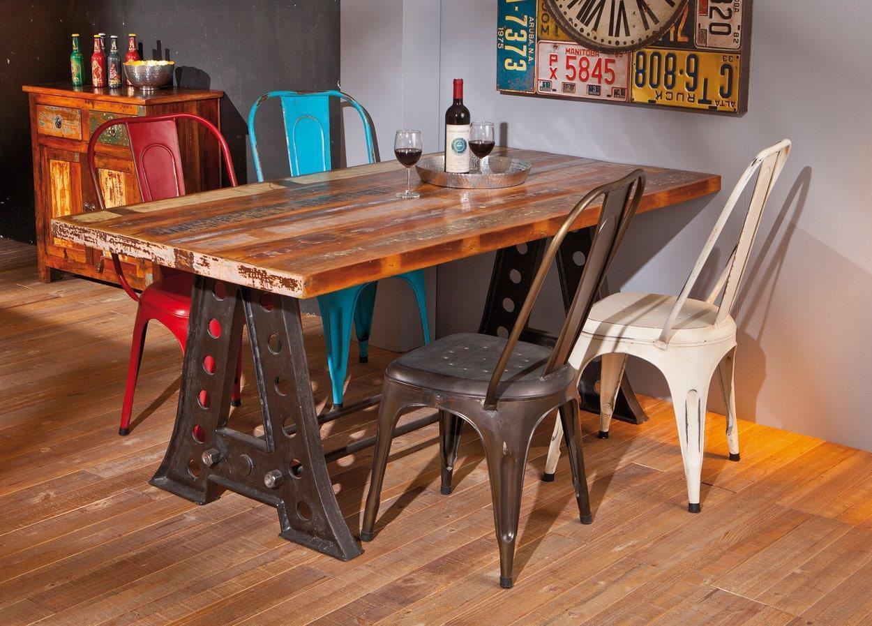 Vintage esstisch amar platte aus recycling mangoholz for Esstisch retro design