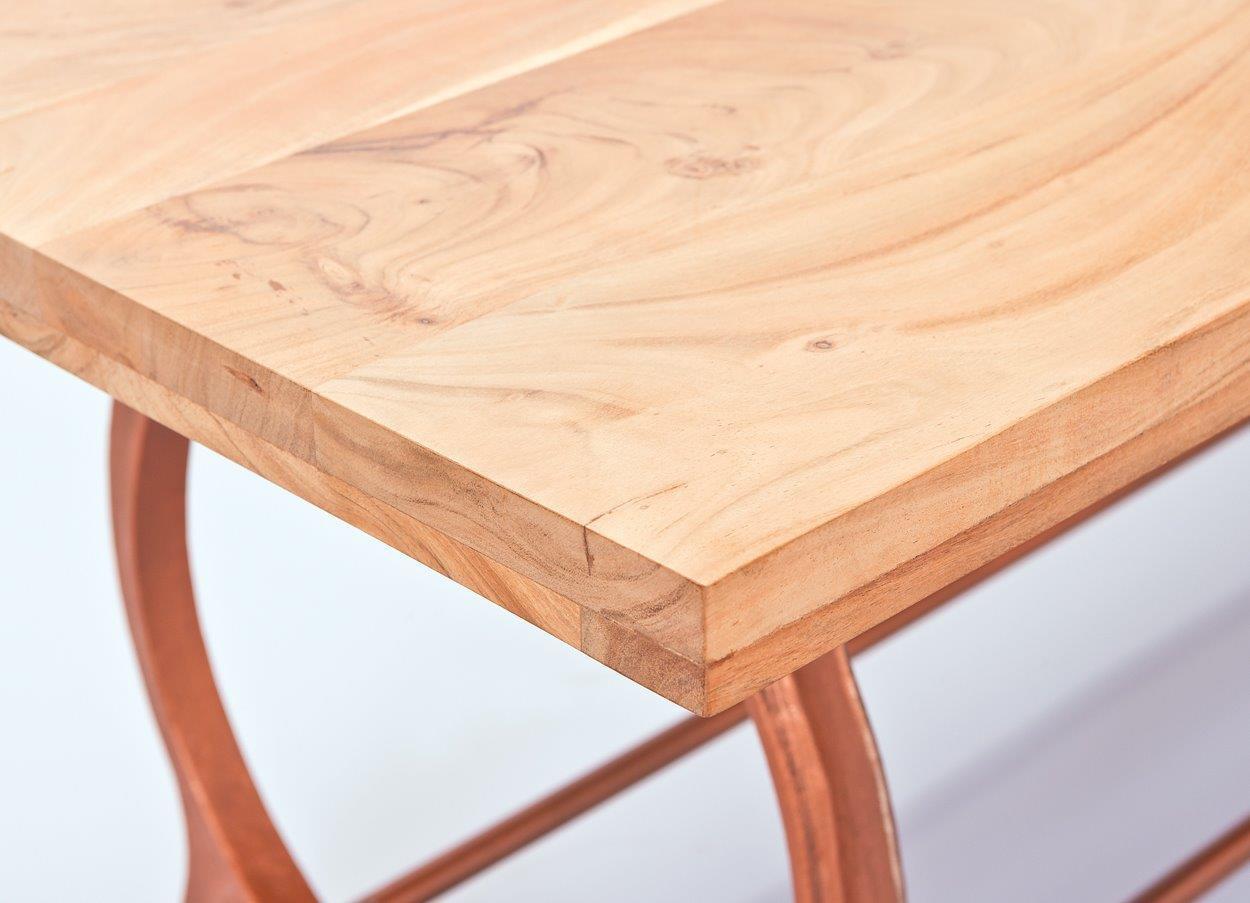 Esstisch Akazienholz ~ Vintage Esstisch OTONE Platte aus Akazienholz