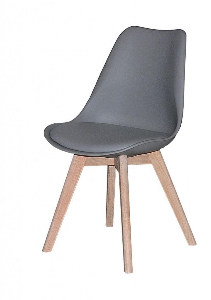 Stuhl jerry esszimmerstuhl mit schalensitz in grau for Stuhl modern grau