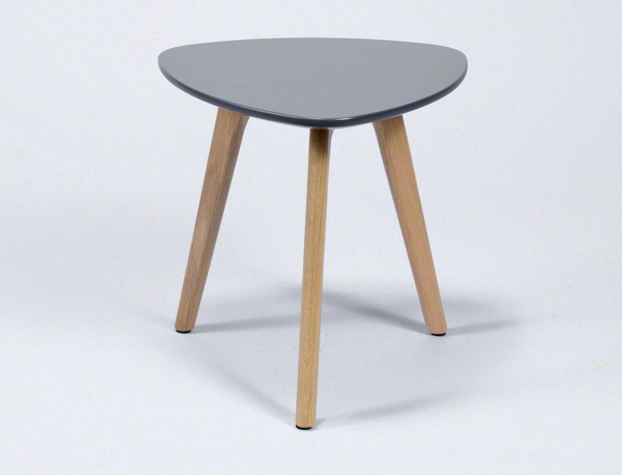 beistelltisch mit 3 tischbeinen 2 gr en tischplatte grau lackiert. Black Bedroom Furniture Sets. Home Design Ideas