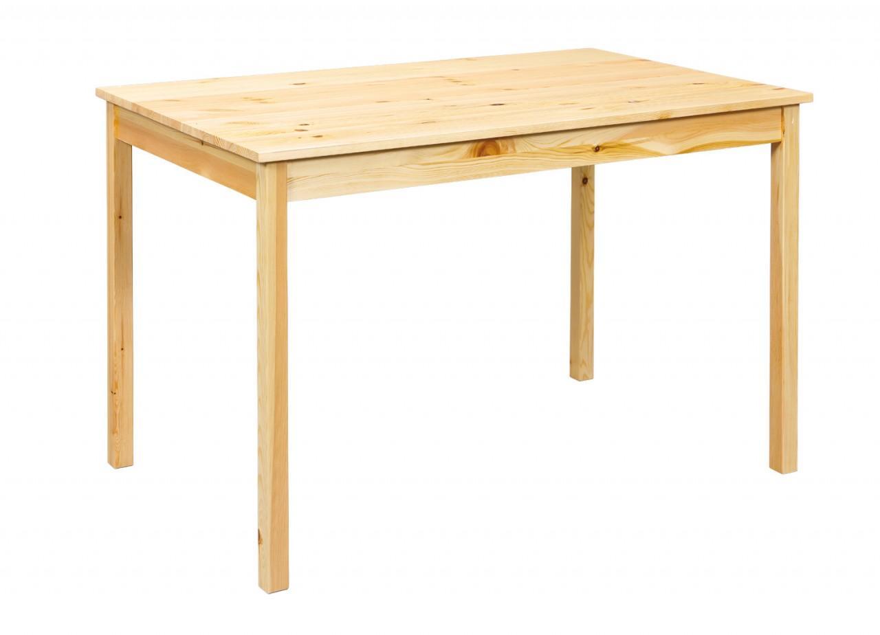 Esstisch CARREL 118 x 75 cm Tisch aus massiver Kiefer natur lackiert