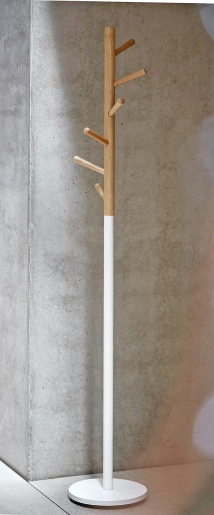 Design Garderobe Kleiderständer KENT Weiß / Buche von Jan Kurtz